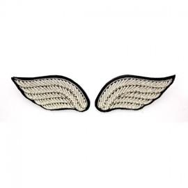"""Broche brodée """"ailes"""" argent - Macon & Lesquoy"""