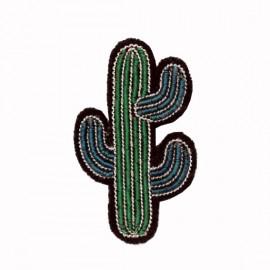 "Broche brodée ""cactus"" - Macon & Lesquoy"
