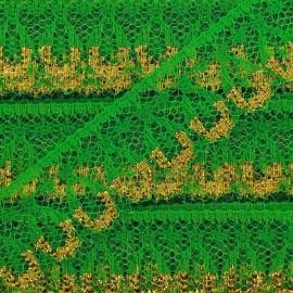 Lace golden lurex ribbon Line - green
