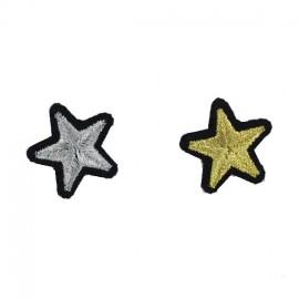 """Thermocollant """"couple rustines étoiles"""" argent et or - Macon & Lesquoy"""