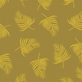 """Fabric Camelot Fabrics """"Leaves in golden"""" x 10cm"""