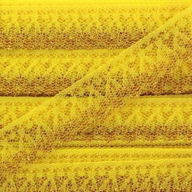 Lace golden lurex ribbon Line - yellow