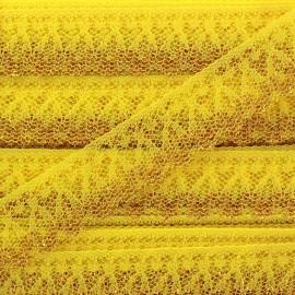 Ruban Dentelle lurex doré Line jaune