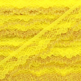 Lace golden lurex ribbon Yaëlle - yellow