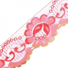 Lace golden lurex ribbon Ambre - red