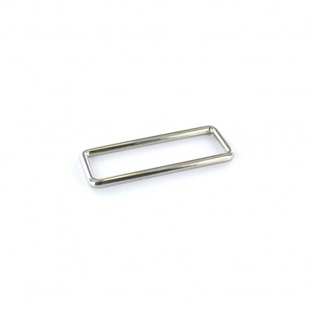 Stainless steel rectangle buckle - silver
