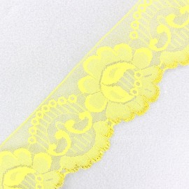 Lace golden lurex ribbon Ambre - yellow