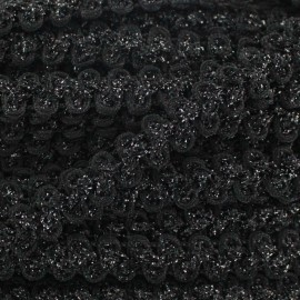 Lurex Gala braid trimming - black