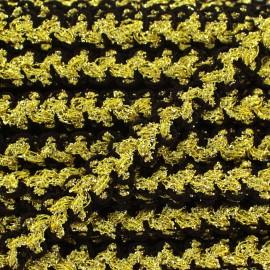 ♥ Coupon 195 cm ♥ Galon Gala lurex noir et doré