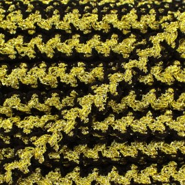 Lurex Gala braid trimming - black and gold