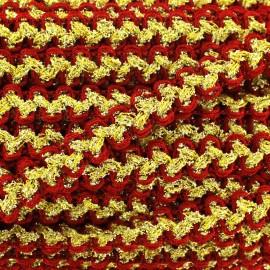 Galon Gala lurex rouge et doré
