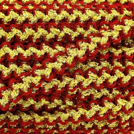 Lurex Gala braid trimming - red and gold