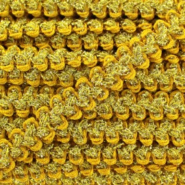 Galon Gala lurex jaune et doré
