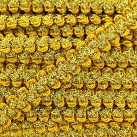 Lurex Gala braid trimming - yellow and gold