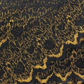 Lace lurex ribbon Léane - black/gold