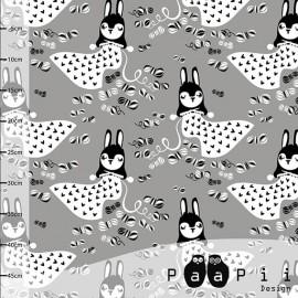 Tissu Jersey Paapi Design Linnea Knits - Gris x 18.5cm