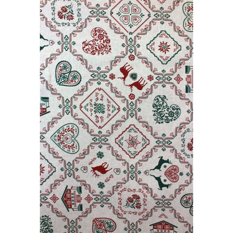 tissus pas cher tissu toile no l beautiful christmas x 64cm. Black Bedroom Furniture Sets. Home Design Ideas