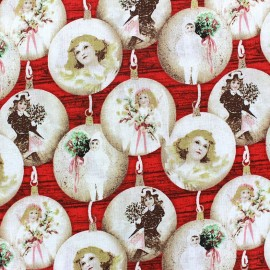 Tissu Noël Christmas memories x 10cm