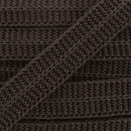 Woolen Bias binding - brown