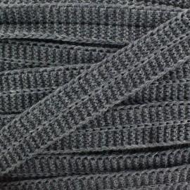 Woolen Bias binding - grey