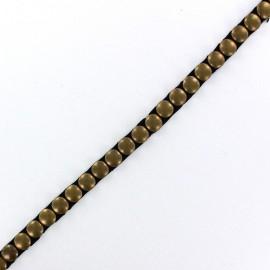 Fusible Braid trimming ribbon, pastille-shaped x 50cm - golden