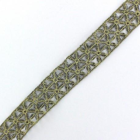 Lamé Lace Ribbon Lily - Gold