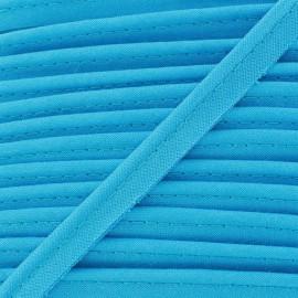 Passepoil tout textile bleu turquoise