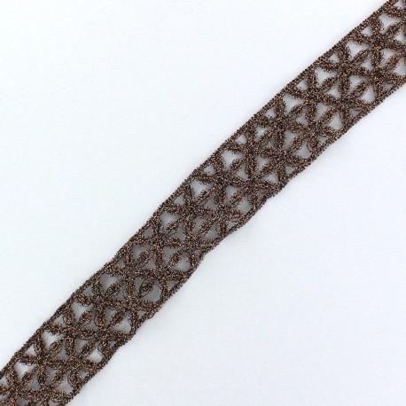 Lamé Lace Ribbon Lily - Copper