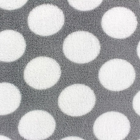Baby's Security Blanket fabric Polka dots - grey