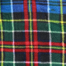 Scottie plaid Polar Fabric - blue x 10cm