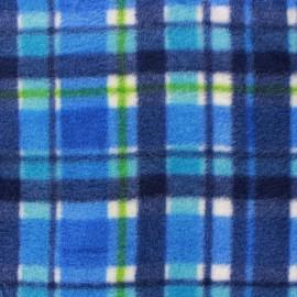 Tissu Polaire Jackie plaid bleu x 10cm