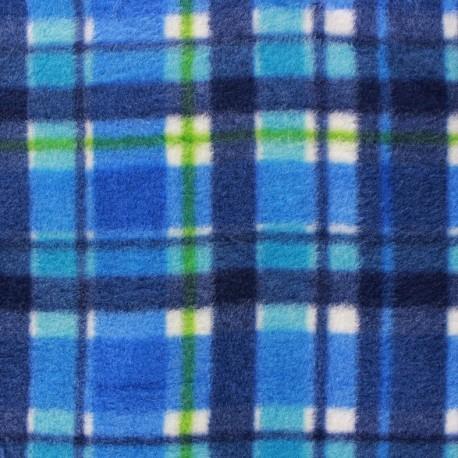 tissus pas cher tissu polaire jackie plaid bleu. Black Bedroom Furniture Sets. Home Design Ideas