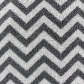 Chevron Polar Fabric  - grey x 10cm