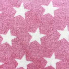 Tissu Doudou Big star rose x 10cm