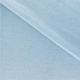 Tissu velours éponge bleu layette