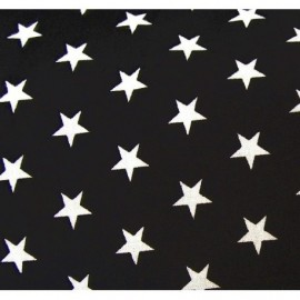 Stars Fabric - White / Black x 10cm