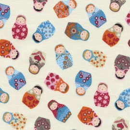 "Tissu Timeless Treasures ""Tossed Russian Dolls"" x 10cm"