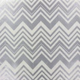 Tissu Camelot Fabrics Chevron metallic silver x 10cm