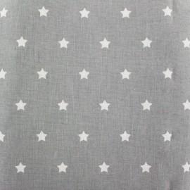 Tissu coton cretonne Stars fond gris x 10cm