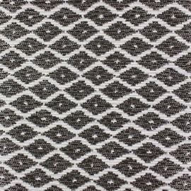 Woven Jacquard Jakarta ikat little diamonds fabric - bronze x 10cm
