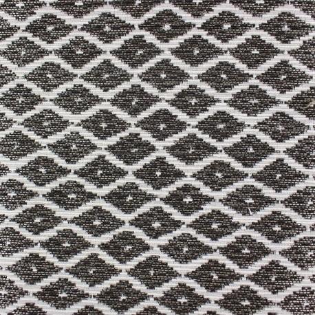 Jakarta ikat little diamonds fabric - bronze x 10cm