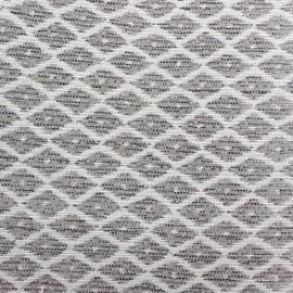 Woven Jacquard Jakarta ikat little diamonds fabric - linen x 10cm
