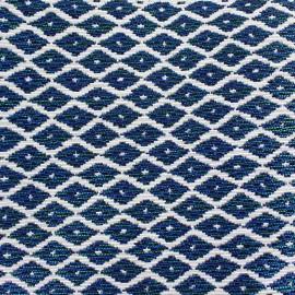 Tissu Jakarta petit losange ikat bleu x 10cm