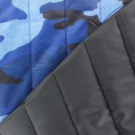 Tissu matelassé fantaisie Camouflage bleu x 10cm
