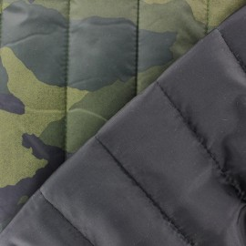 Tissu matelassé fantaisie Camouflage kaki x 10cm