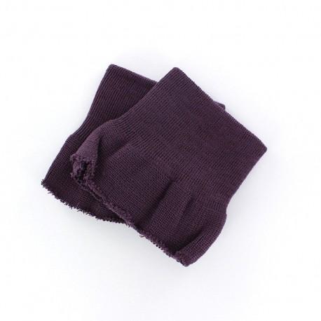 Poignets Bord Côte violet