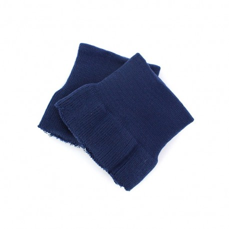 Wrist ribbing - navy blue