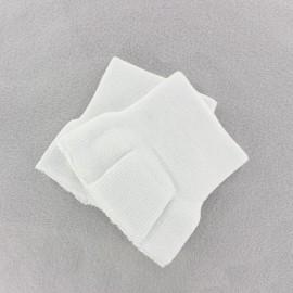 Poignets Bord Côte blanc