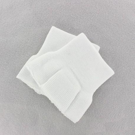 Wrist ribbing - white