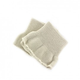 Wrist ribbing - light beige